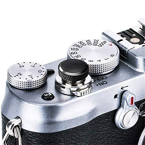 JJC Compatible Soft Shutter Release Button Cap for Fuji Fujifilm X-T3 XT3 X100F X-Pro2 X-Pro1 X-T2 X-E3 X-E2S X-T20 X-T10 X100T X100S X30 for Sony RX10 IV,RX10 III II,RX10,RX1R II,RX1 R,RX1 / B Black