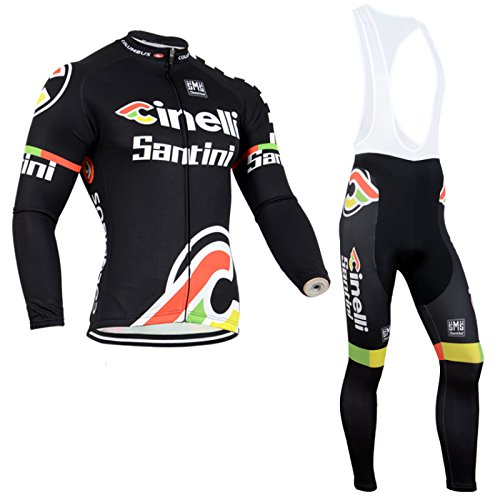 2014 Outdoor Sports Pro Team Men's Long Sleeve Cinelli Cycling Jersey and Bib Pants Set