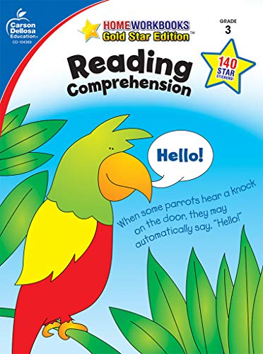 Reading Comprehension, Grade 3: Gold Star Edition (Home - Booklet Reading 3 Grade Homework