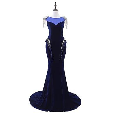lemondress Navy Blue Lace Mermaid Bridesmaid