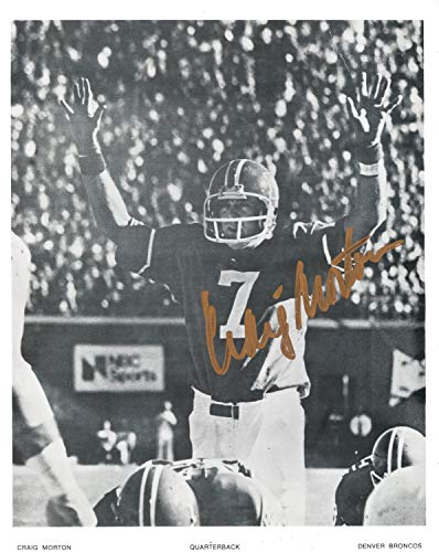 Craig Morton Denver Broncos Autographed Signed 8x10 Photo - Certified ()