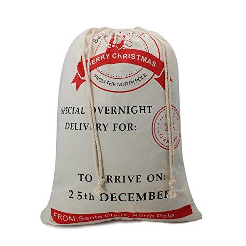 Christmas Bag for Kids Christmas Gift Basket Christmas Tote Bag Made By Canvas H3 (Christmas Gift Baskets Under $10)