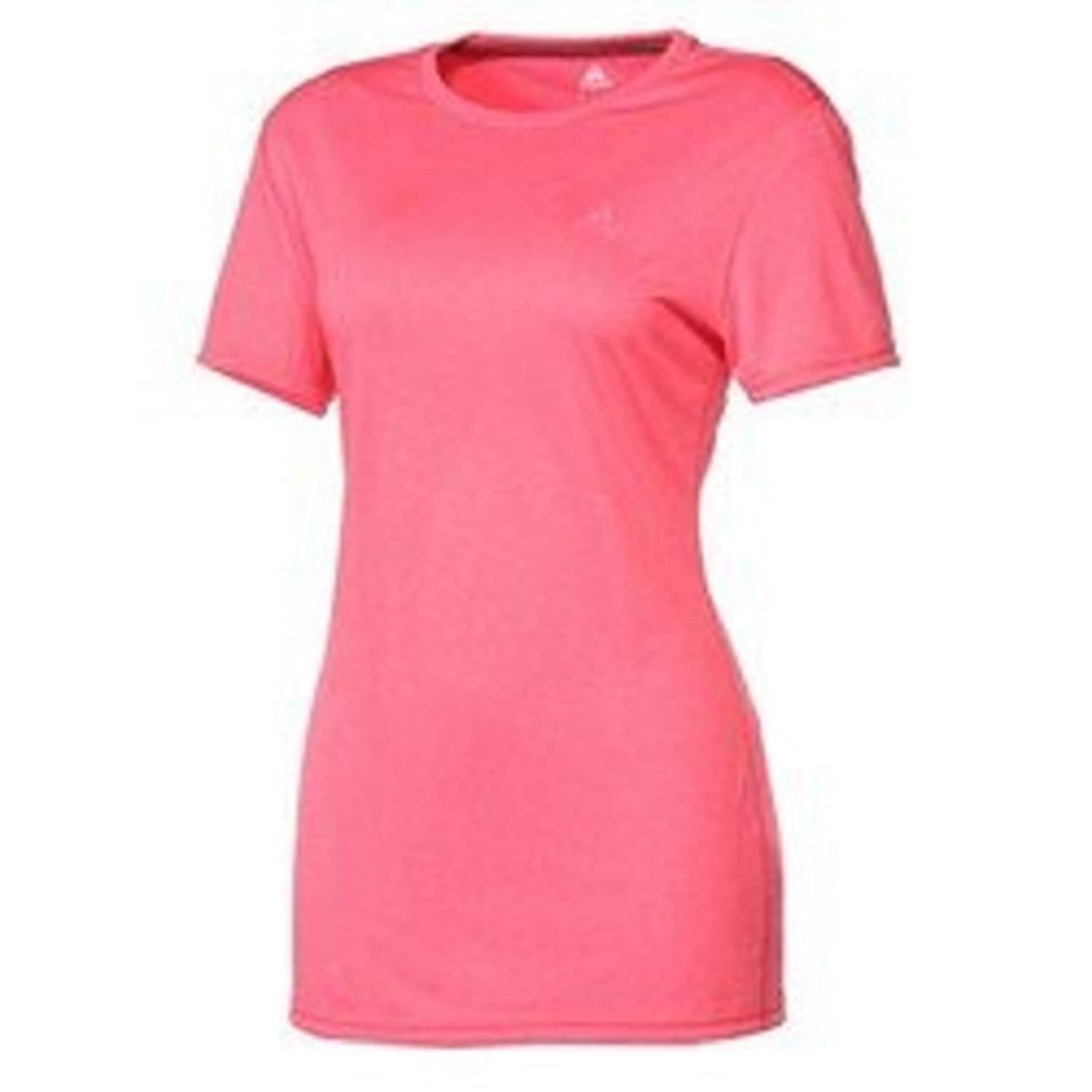 Adidas Women's ClimaTech Short-Sleeve Crew Neck Tee Xtra-Small Super Pink