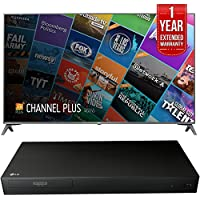 LG 75 Class 4K UHD HDR Smart IPS LED TV (75UJ6450) with LG 3D Ultra High Definition Blu-Ray 4K Player & 1 Year Extended Warranty
