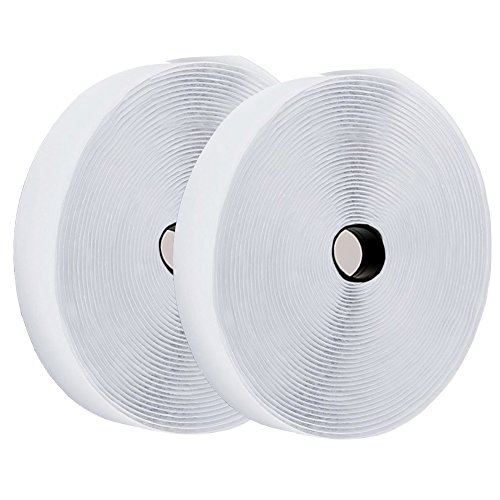 41 Feet Velcro Tape Roll Velcro Strips with Self Back Adhesive by TOPtoper Hook and Loop Tape Roll 0.8 Inch (White)