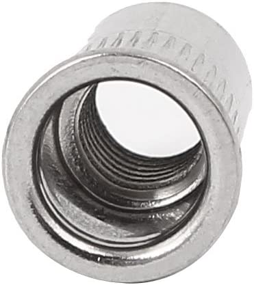 sourcing map M5 x 12mm acciaio inox 304 testa svasata dado rivetto inserto filettato 200pz.