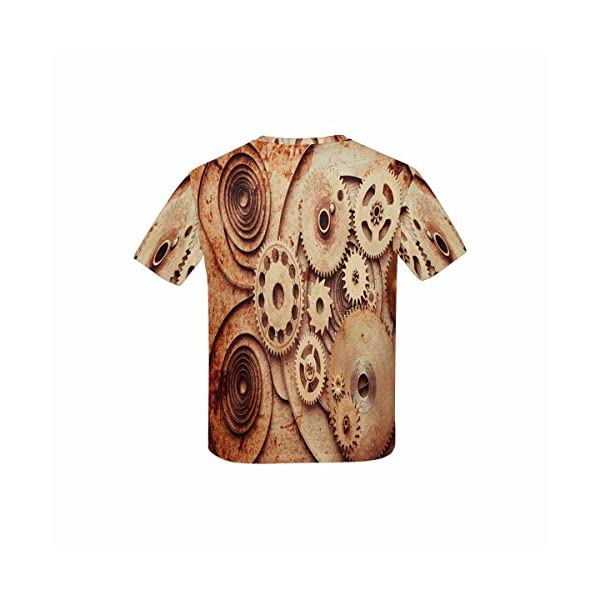 INTERESTPRINT Kid's T-Shirts Steampunk Background from Mechanical Clocks Details (XS-XL) 4