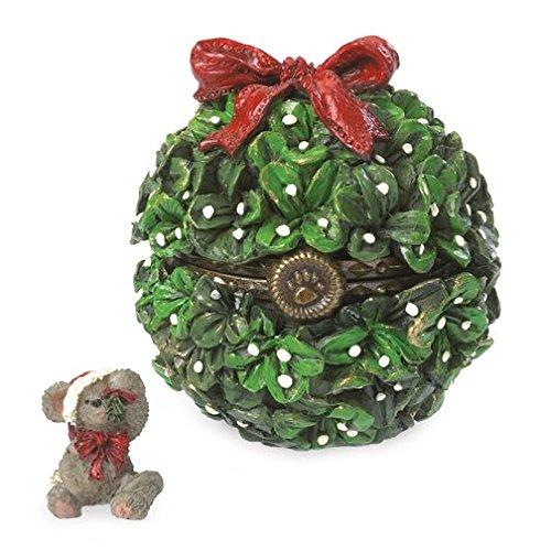 Boyds Bears Klaus Mistletoe with Smooch McNibble Trinket Box