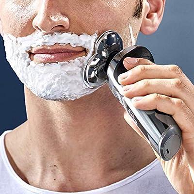 Philips Serie 9000 Prestige SP9863/14 - Afeitadora eléctrica para hombre con bandeja de carga Qi, sensor de densidad de barba, 3 modos, seco/húmedo, con perfilador de ...