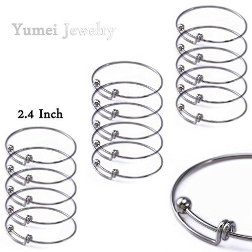 yumei jewelry adjustable wire blank bangle bracelet for