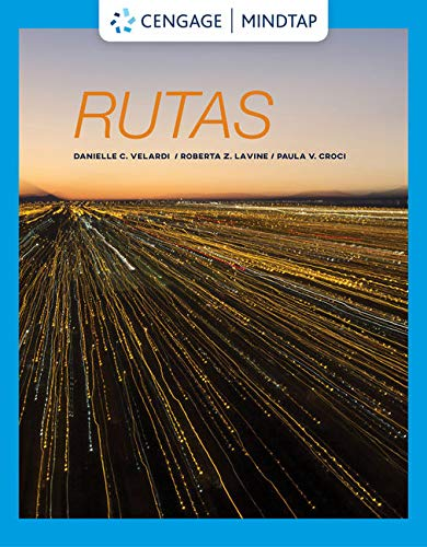 MindTap Spanish for Velardi/Lavine/Croci's Rutas: Intermediate Spanish, 1st Edition [Online Code] by Cengage Learning