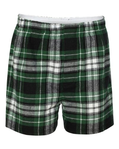 Boxercraft Flannel - Boxercraft Adult Classic Flannel Boxers - Green/Black - S