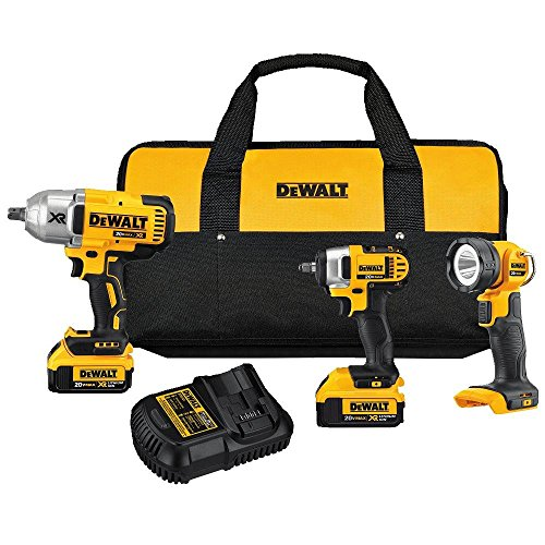 DEWALT DCK398M2 20V MAX Lithium Ion 3-Tool Combo Kit with 2 Batteries and Charger by DEWALT