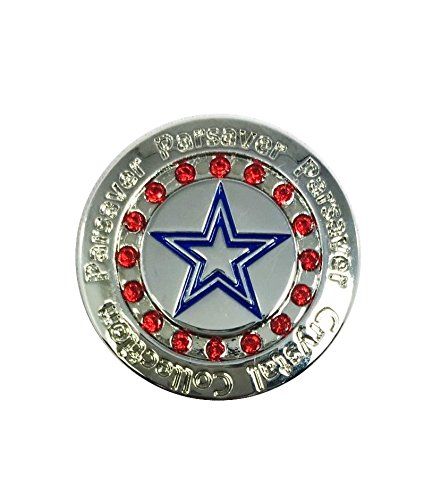 - Swarovski Crystal Golf Ball Markers - with Hat Belt Clip - USA Golf Ball Marker Design - Patriotic Red White and Blue - Unmatched Brilliance and Sparkle on The Greens