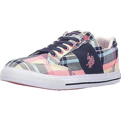 Women's Lexie Navy/Blue/Pink Plaid Sneaker 8.5 M
