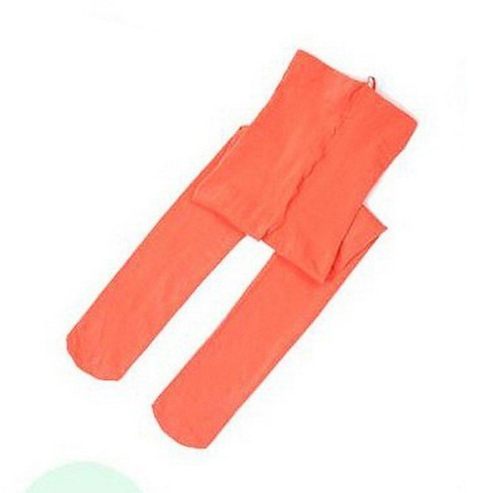 Westeng Collants Bébé Fille Collants Couleur Bonbon Orange pour Enfant 5 à 8 Ans 1533472WSS7100