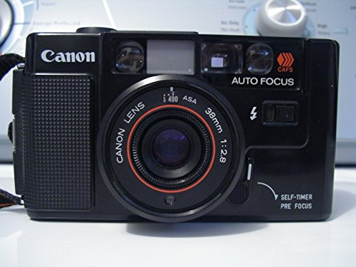 Canon AF35M 35mm Film Camera CAFS Self-Timer Pre Focus w/Canon Lens Manual ASA 38mm 1:2.8 Camera (Black Camera)