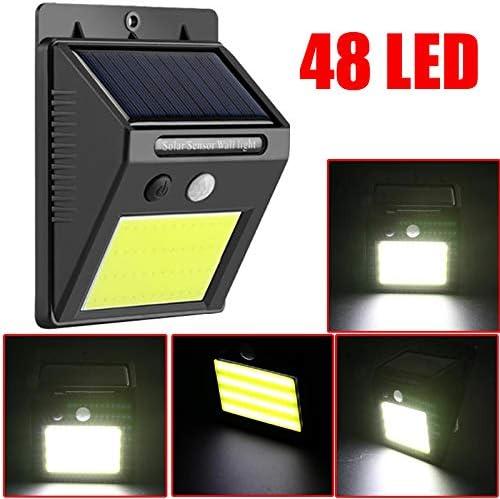 Offershop - Foco de luz solar con 48 LED, sensor de movimiento ...