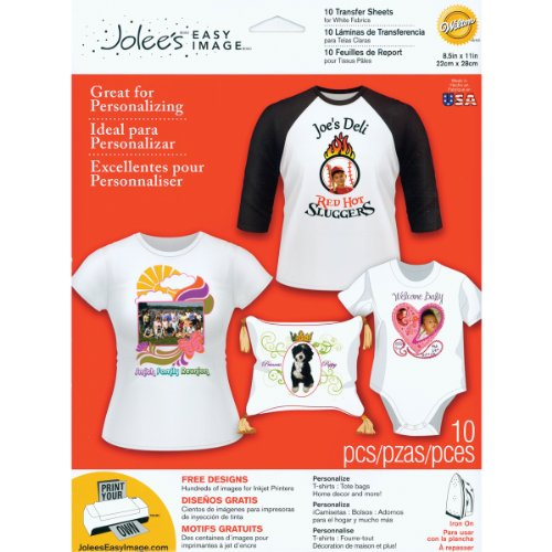 EK Success Brands Jolee's Boutique Easy Image Iron-on Transfer Paper, White Fabrics (Success Ek Fabric)