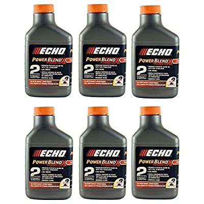 Echo 6450002 6 Pack of 2 Gallon Power Blend Oil Mix 50:1 ;from#ami.sales : Garden & Outdoor