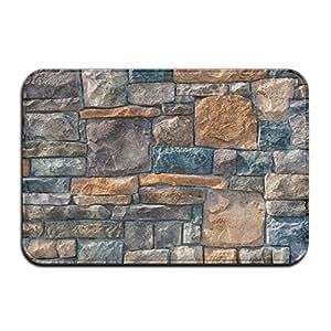 Decorativo piedra antideslizante Felpudo, entrada alfombra piso alfombra Felpudo para interiores/exteriores/puerta delantera/dormitorio Felpudo 23,6x 15,7pulgadas