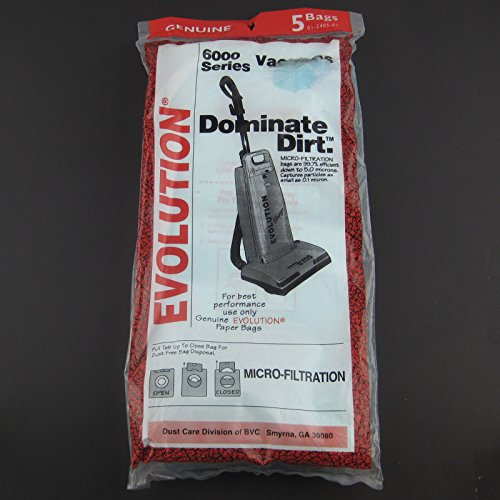 Evolution 6000 Series Upright Vacuum Bags 5 Pk Part # 01-2405-01