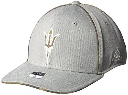 adidas NCAA Arizona State Sun Devils Men's Hint of Camo Flex Fit Cap, Small/Medium, Grey (Fit Camo Cap Flex)
