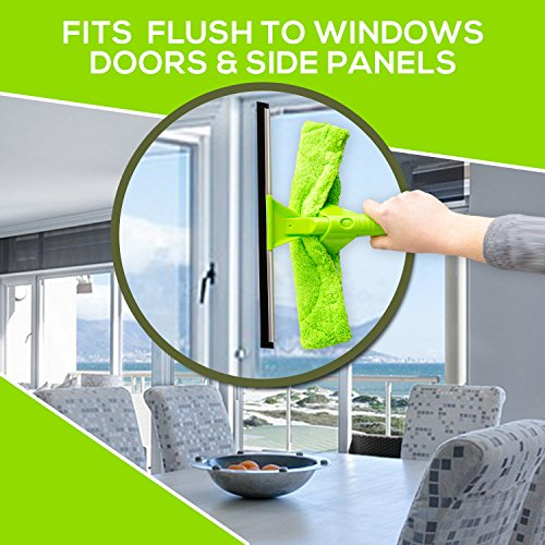 NeverEnding Reach Squeegee Window Cleaner Kit   Shower Squeegee, High Window Cleaning Tools, Car Windshield Tool and Doors - Indoor / Outdoor Washing Equipment with Extension Pole and 4 Washer Heads by Modern Domus (Image #7)