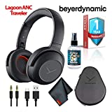 Beyerdynamic Lagoon ANC Traveller Bluetooth Headphones with ANC and Sound Personalization (Black) with Hard Case, 6Ave Cleaning Kit, and 1-Year Extended Warranty