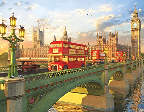 Springbok Puzzles - Westminster Bridge - 500 Piece Jigsaw Puzzle - Large 23.5 Inches by 18 Inches Puzzle - Made in USA - Unique Cut Interlocking Pieces