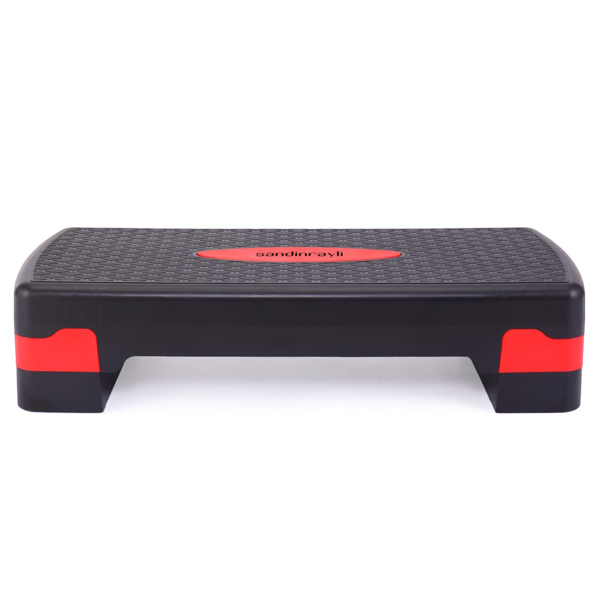 Tobbi Adjustable Aerobic Stepper Fitness Platform Yoga Exercise in Black & Red by Tobbi