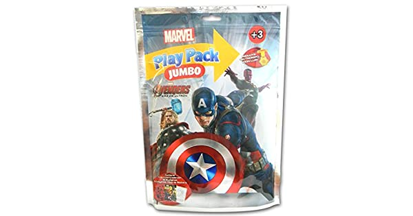 Libro para colorear Play Pack Jumbo de Avengers con sorpresa: Marvel ...