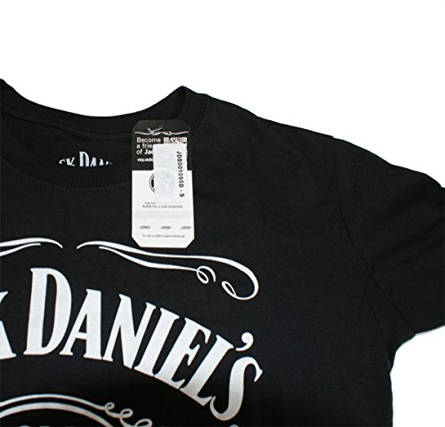 Jack-Daniels-OLD-No7-Womens-Capsleeve-T-Shirt-Black