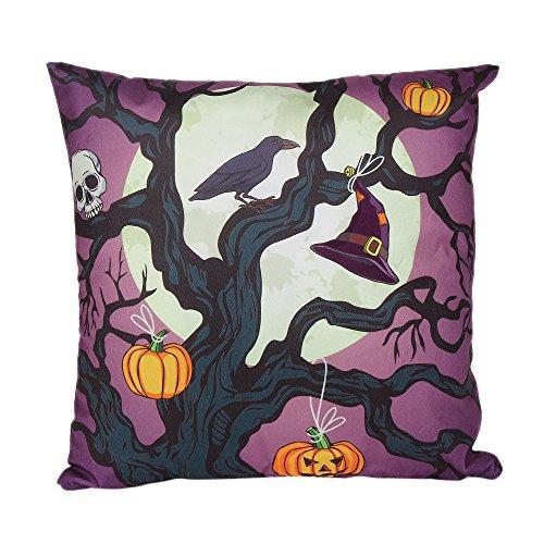 OCASHI Halloween Soft Pillows Cover Decorations Pillow Cases Decor Halloween Throw Pillow Case Sofa Waist Throw Cushion Covers Home Decor Square 18 x 18 inches (45cm X 45cm, G)