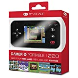 """My Arcade Gamer V Portable Gaming System - 220 Built-In Retro Style Games and 2.4"""" LCD Screen – Black"""