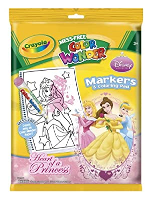Color Wonderdisney Princess Enchanted Coloring Book And Markers Style May Very by Binney & Smith