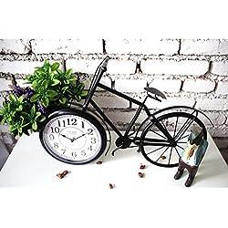 Jingzou Simple, modern, creative, home, wall clock bike, model, wrought iron, pendulum clock