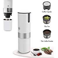 ADDCOOL Portable Espresso Maker Upgraded Travel Coffee Maker Coffee Machine Compatible with K-Cup Capsule Manually Operated for Camping Travel Kitchen Office (White)