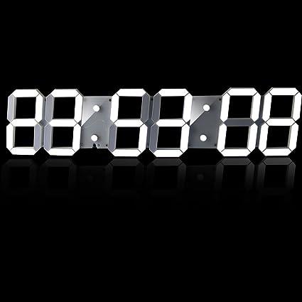 lambtown Super gran de cuenta atrás para Digital Count Up reloj de pared LED con mando