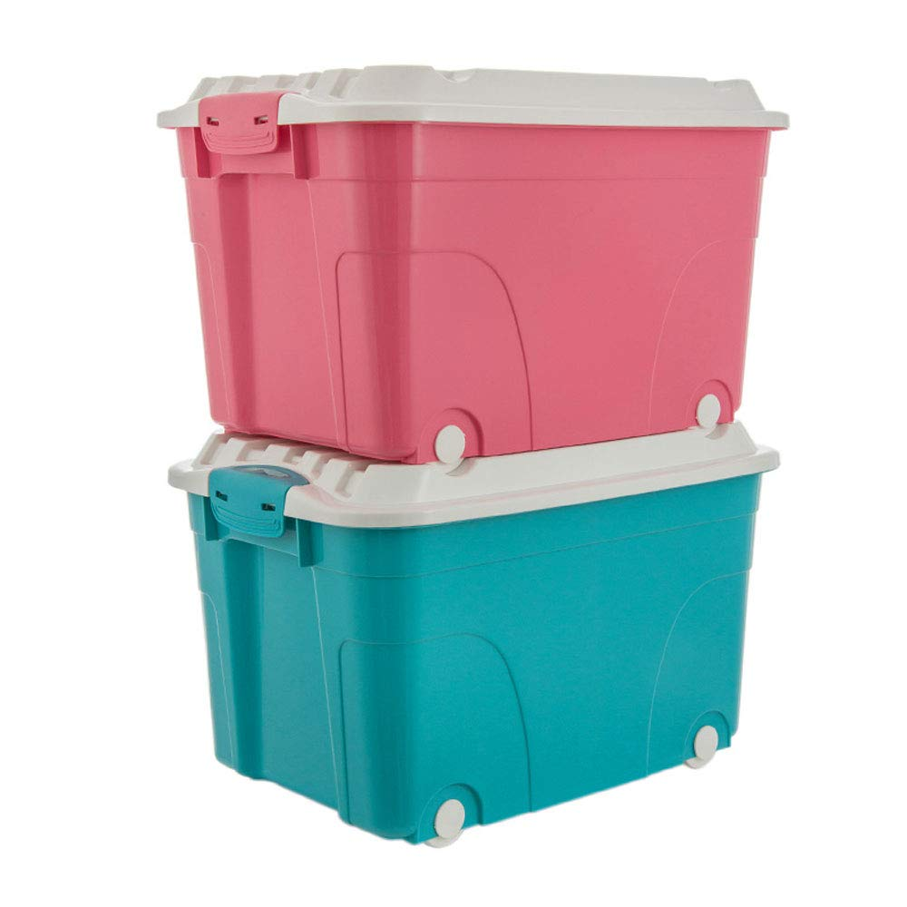 MYQ 収納ボックス 収納ボックス、2パックの家庭用収納ボックスプラスチック製の厚い収納ボックスの服のキルトのおもちゃの収納ボックス 化粧品収納ボックス B07QM6G5YC