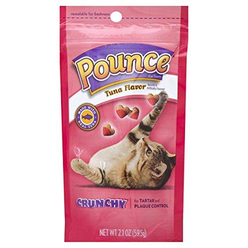 Pounce Tartar Control Crunchy Tuna Flavor Cat Treats, 2.1-Ounce (Pack of 12)