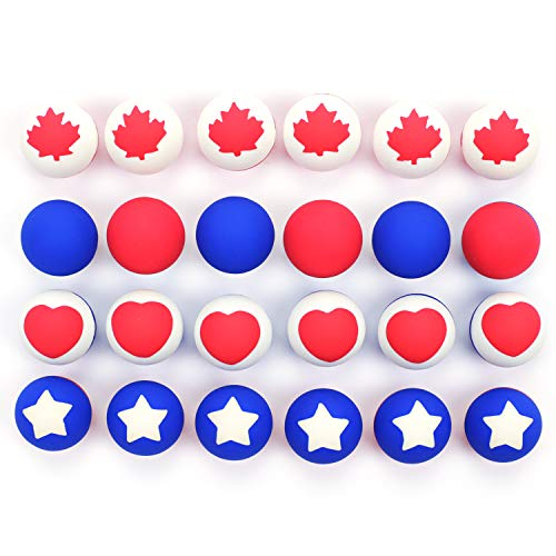 2' Vending Capsules Toy (Patriotic Bouncing Balls 27 mm - for Vending Machine or Birthday Party, Christmas Party, Party Favor, Rewards, Gifts - 27 mm 250 Count)