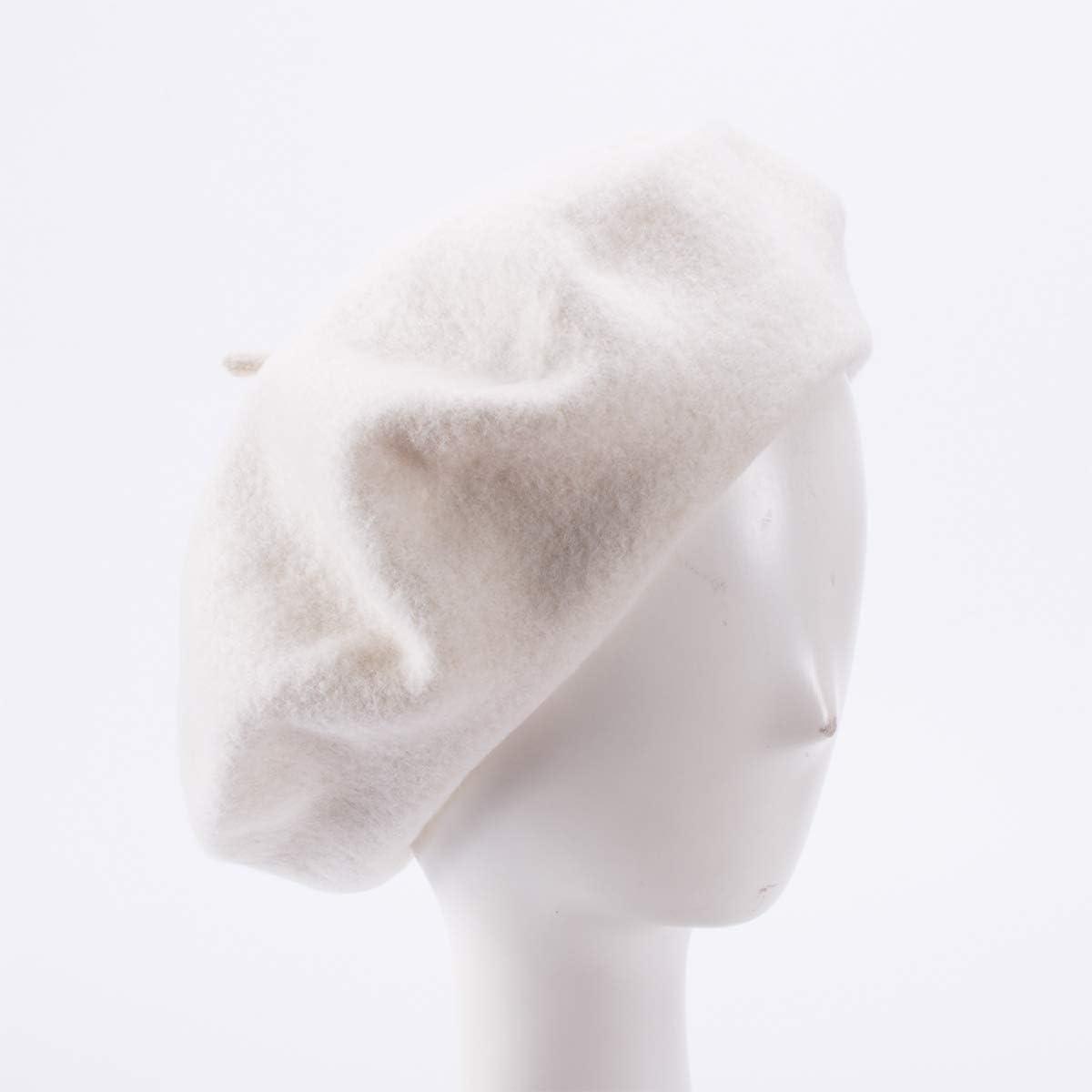 LYEJM Womens Winter Warm Rivet Real Leather Adjustable Painter Beret Caps Outdoor Durable Forward Hat