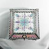 Jewel Encrusted 4X4 SILVER Treasure Jewelry Box