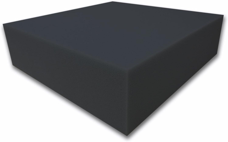 100x200x12cm Dibapur /® Akustikpur glatt schwarz Raum Akustik Schaumstoff D/ämmung Schallschutz