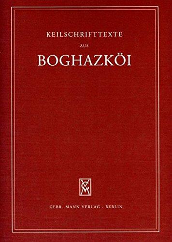 Texte verschiedener Herkunft (Keilschrifttexte aus Boghazköi)