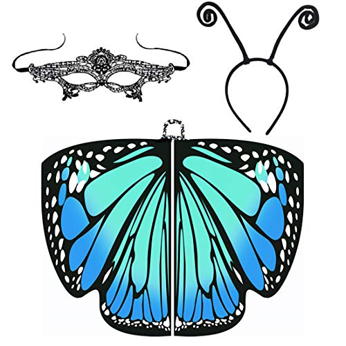 Halloween Costume for Women Butterfly Wings Cape Shawl Fairy Accessory