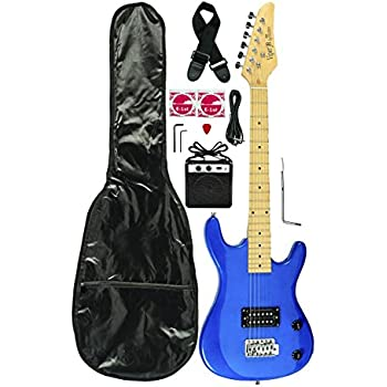 32 junior kids mini 1 2 size electric starter guitar and amplifier pack with free. Black Bedroom Furniture Sets. Home Design Ideas