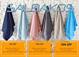 SALBAKOS Cambridge 2 Pack Cotton Bath Mats Panel