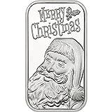 #1: 2017 Merry Christmas Happy Santa Face 1oz .999 Fine Silver Bar Silver Uncirculated